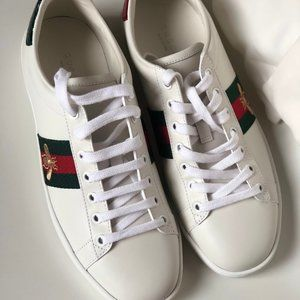 Gucci White Bee New Ace Sneakers